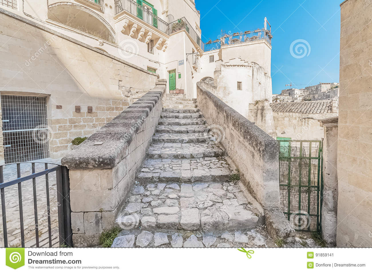 Old stairs in Europe 80
