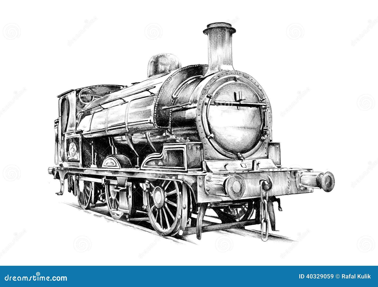 Old Steam Locomotive Engine Retro Vintage Stock ...
