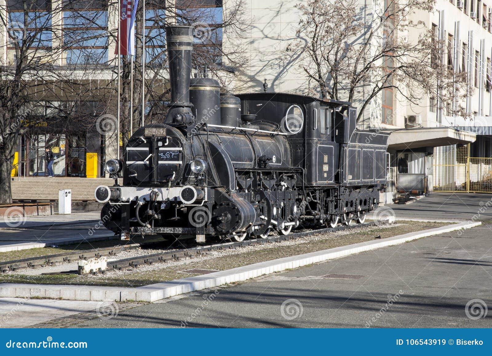 Old Steam Locomotive At Main Railway Station In Zagreb