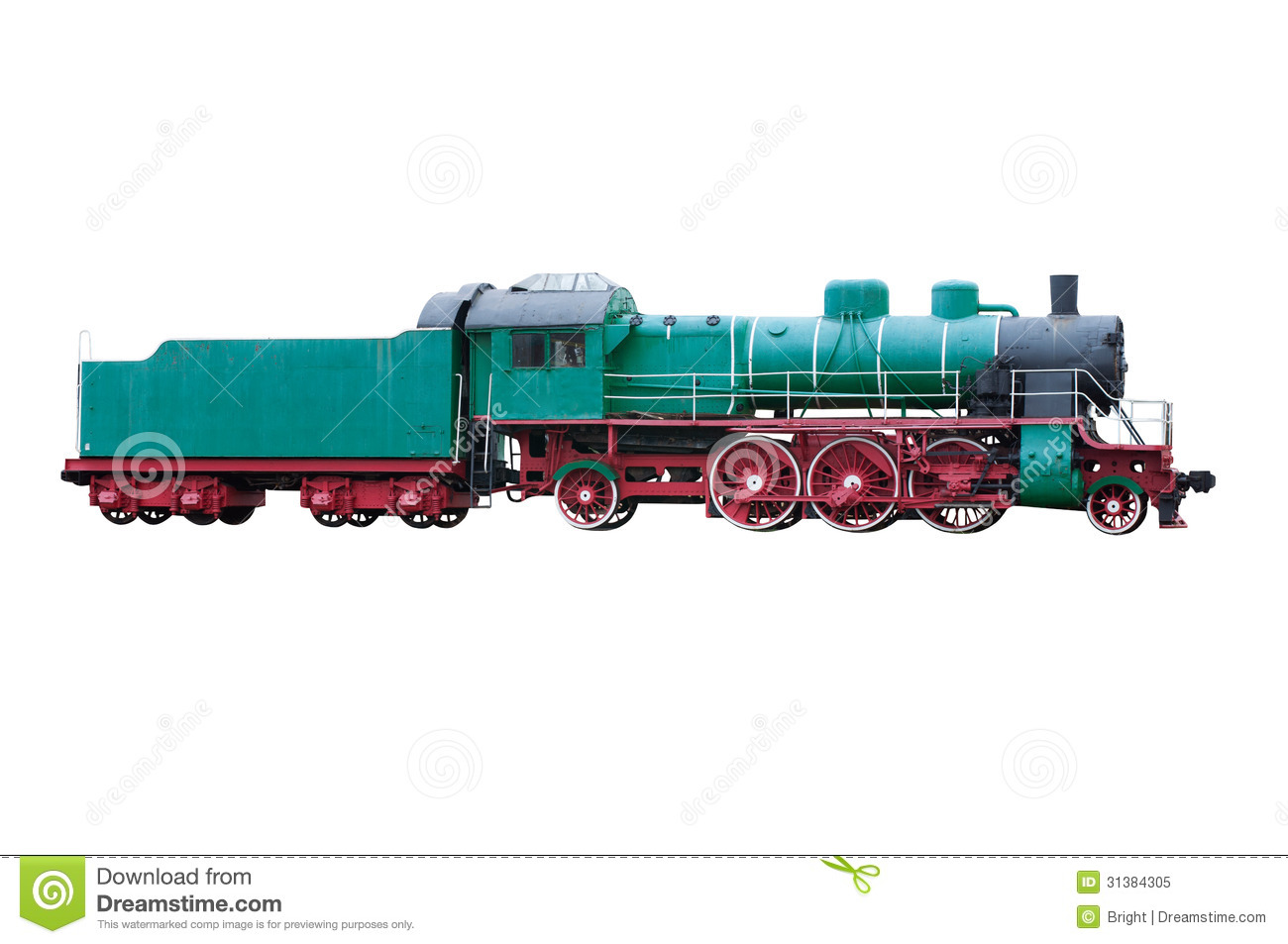 Old Steam Locomotive stock image. Image of heavy, isolated ...