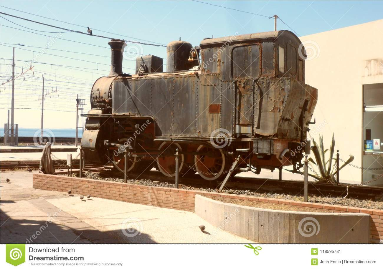 An Old Steam Locomotive To Catania Stock Image - Image of ...
