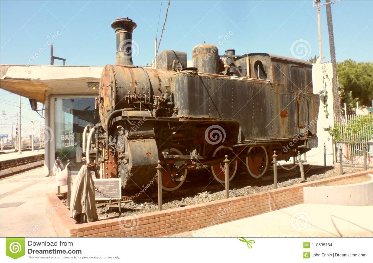 An Old Steam Locomotive To Catania Stock Photo - Image of ...
