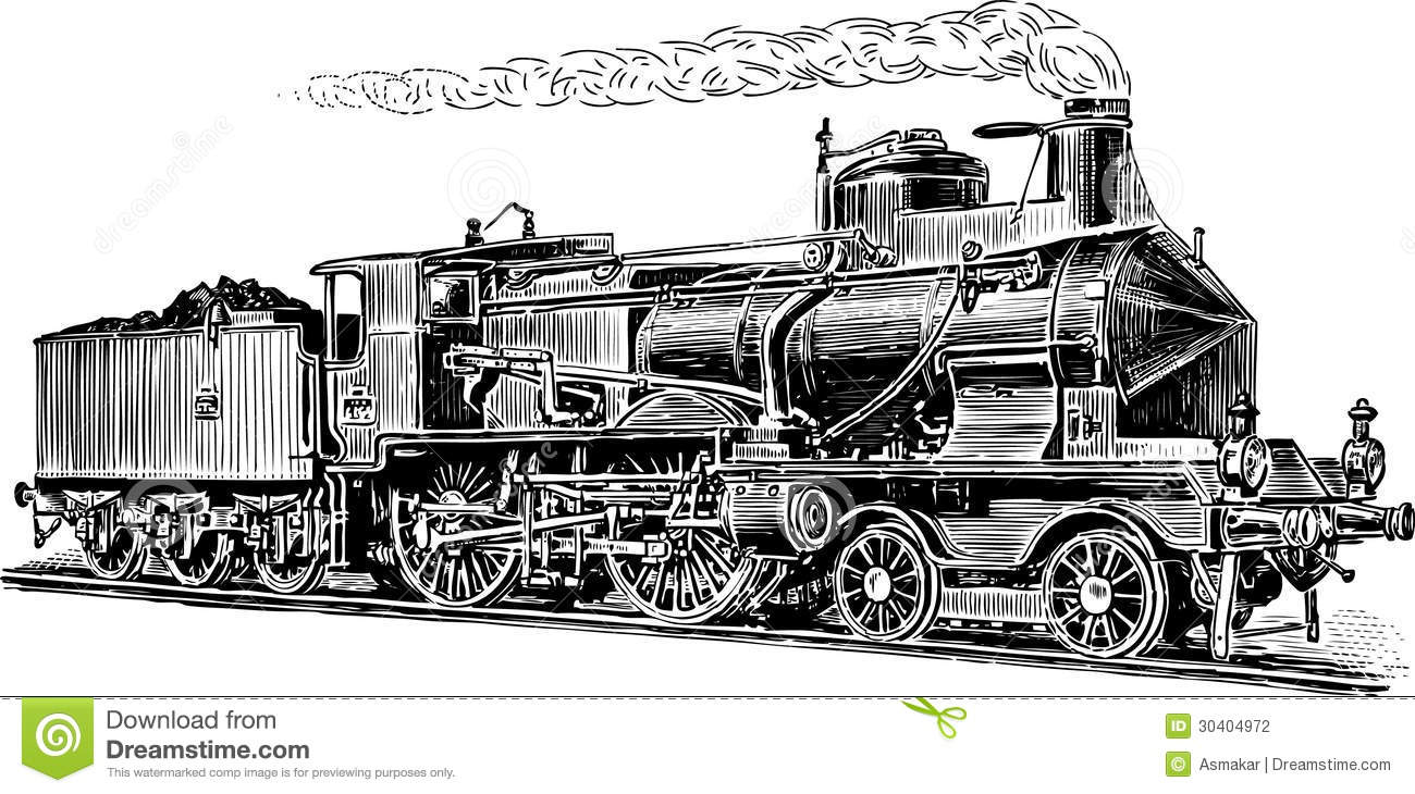 Old Steam Locomotive Stock Photography - Image: 30404972