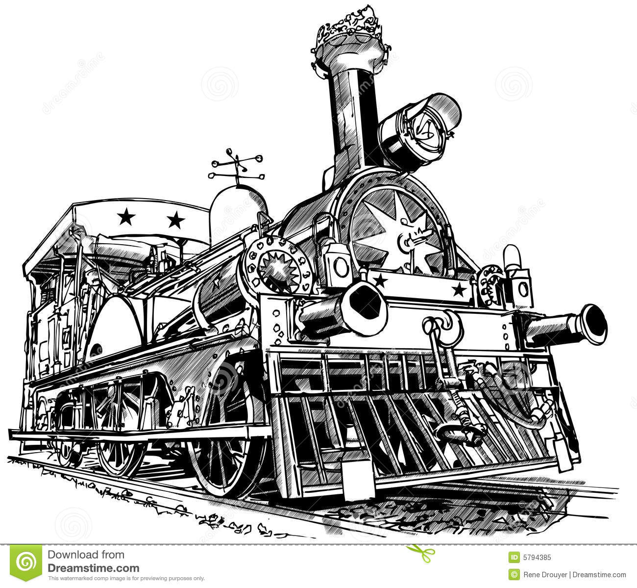 Old Steam Train Royalty Free Stock Photo - Image: 5794385