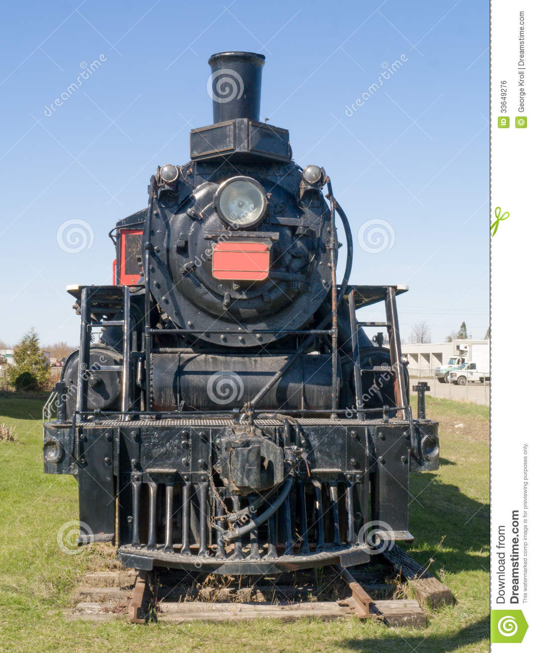 Old Steam Train front view stock photo. Image of vintage ...