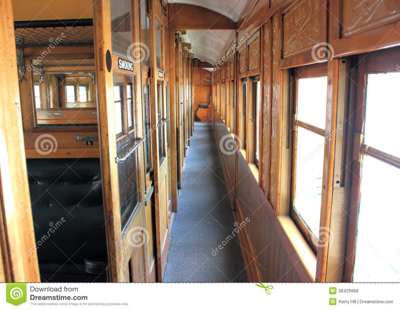 old steam train interior corridoor royalty free stock photos image 36429968. Black Bedroom Furniture Sets. Home Design Ideas