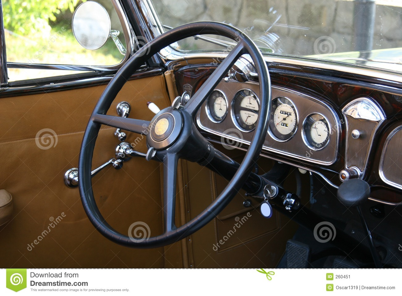 Old Steering Wheel Stock Image Image