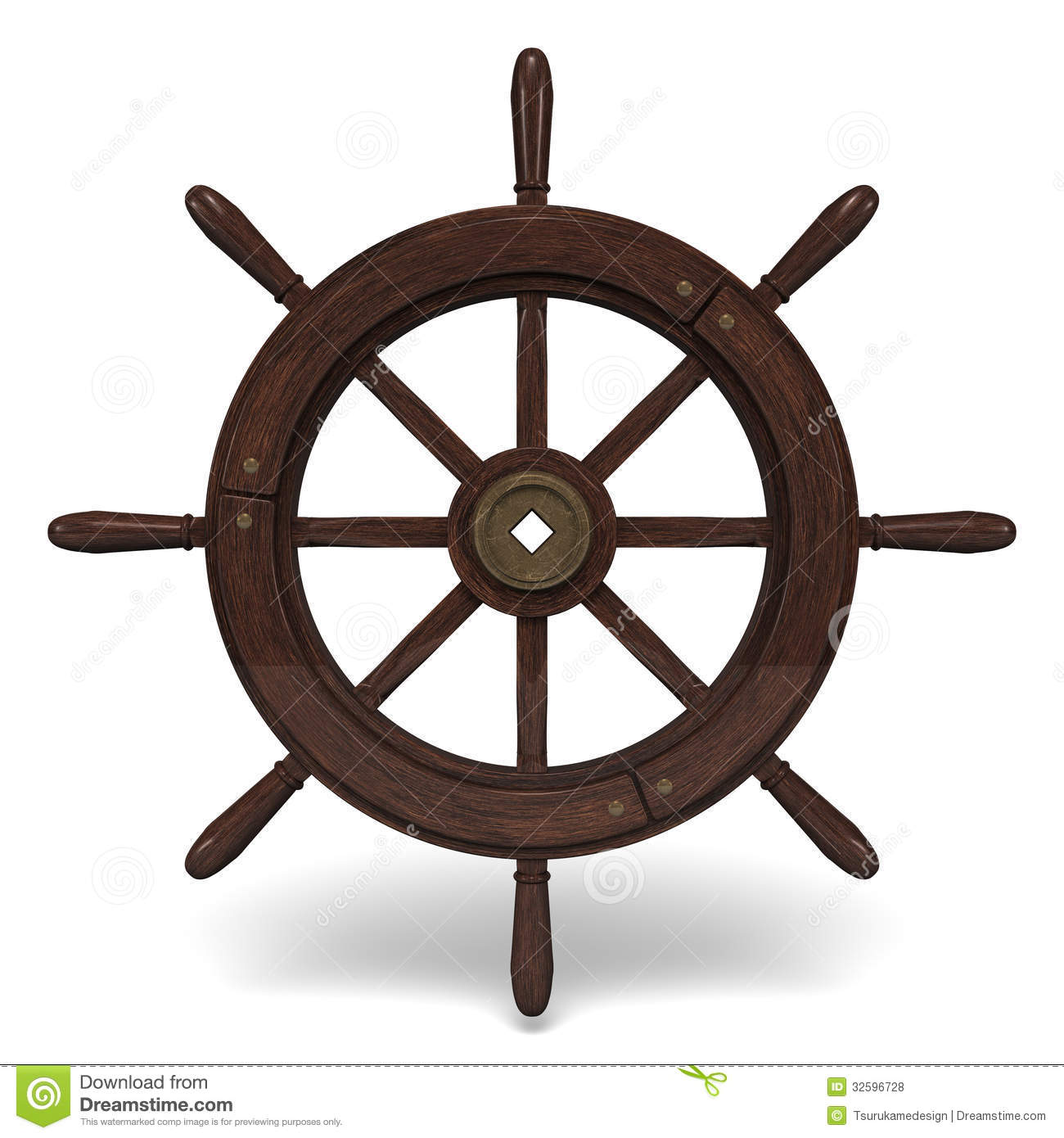 Old Steering Wheel Front View Royalty Free Stock Photos ...