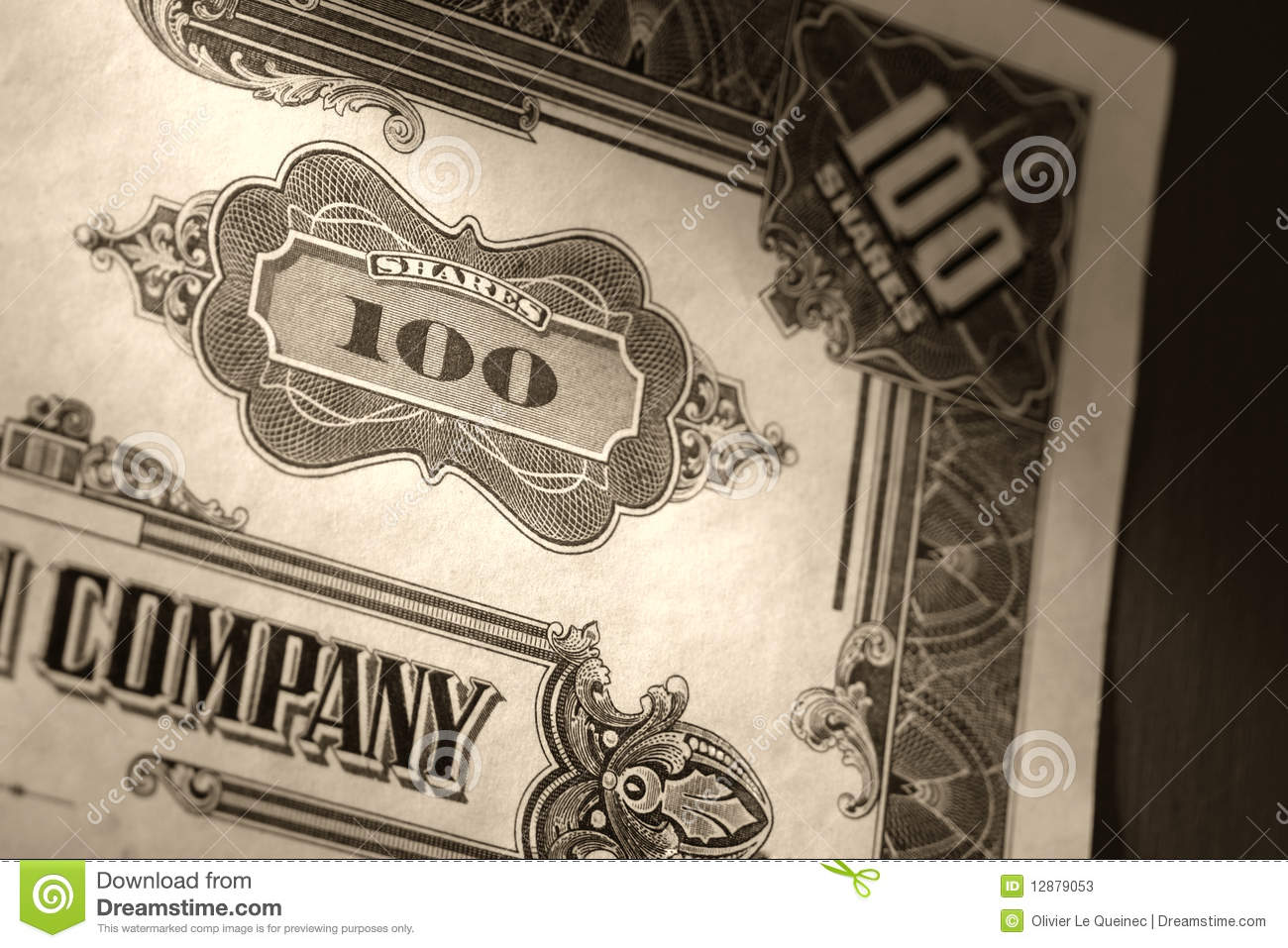 old stock market shares vintage certificate stock photos