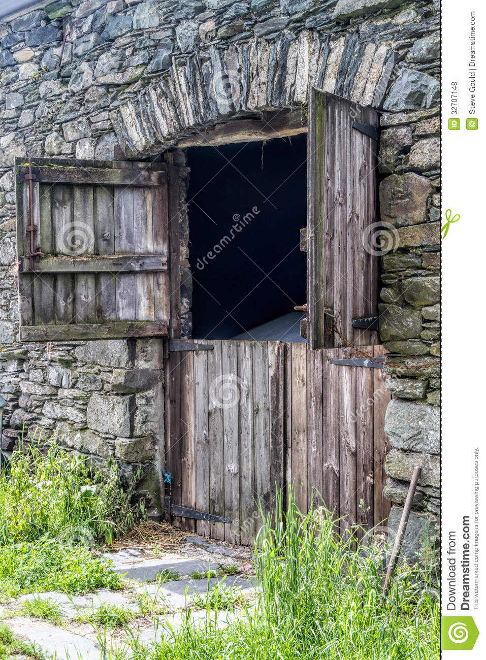 Old Stone Barn Stock Photo Image Of Door Village