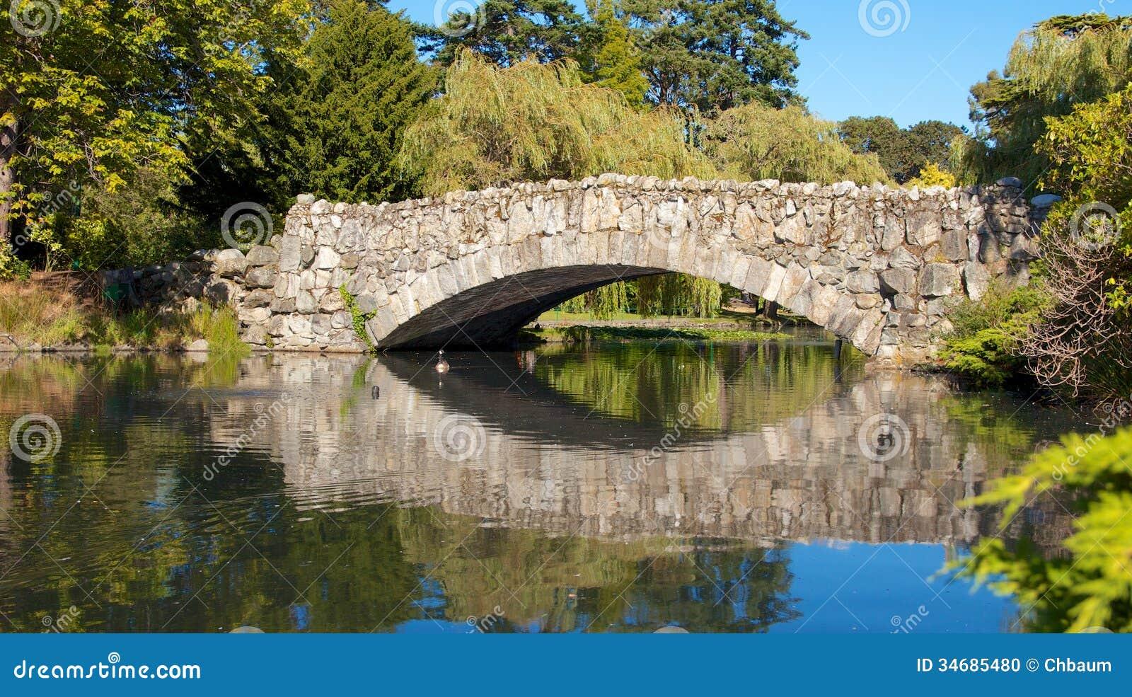 Old stone bridge 3 stock photo image of pond british for Landscaping rocks victoria bc