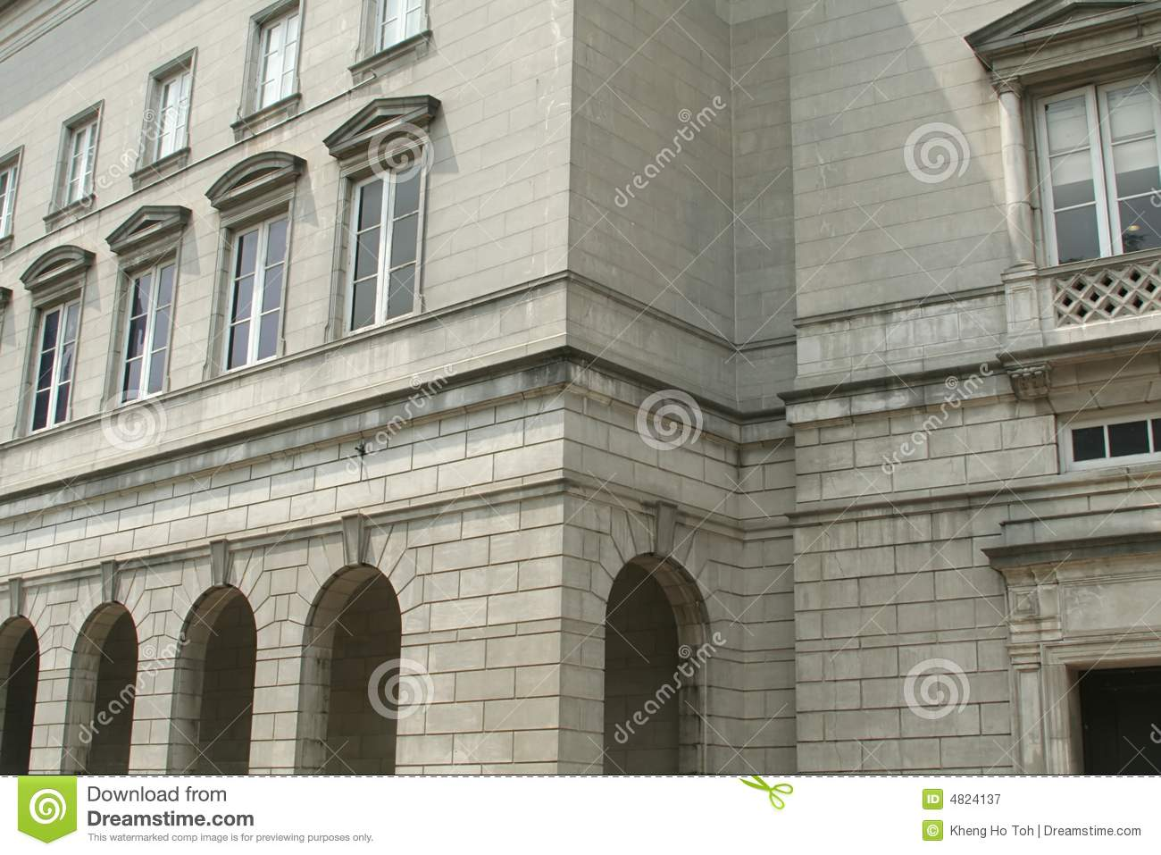 Old stone business building architecture royalty free for Architecture firm for sale