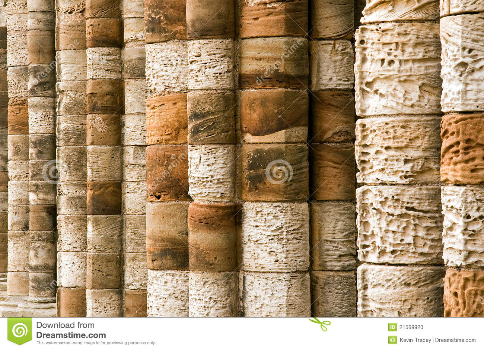 Old Stone Pillars : Old stone columns stock photo image