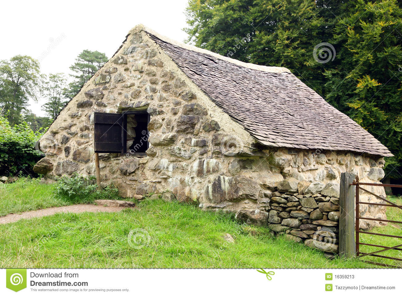 Stock Photos Old Stone Cottage Image16359213 on Small English Cottage House Plans