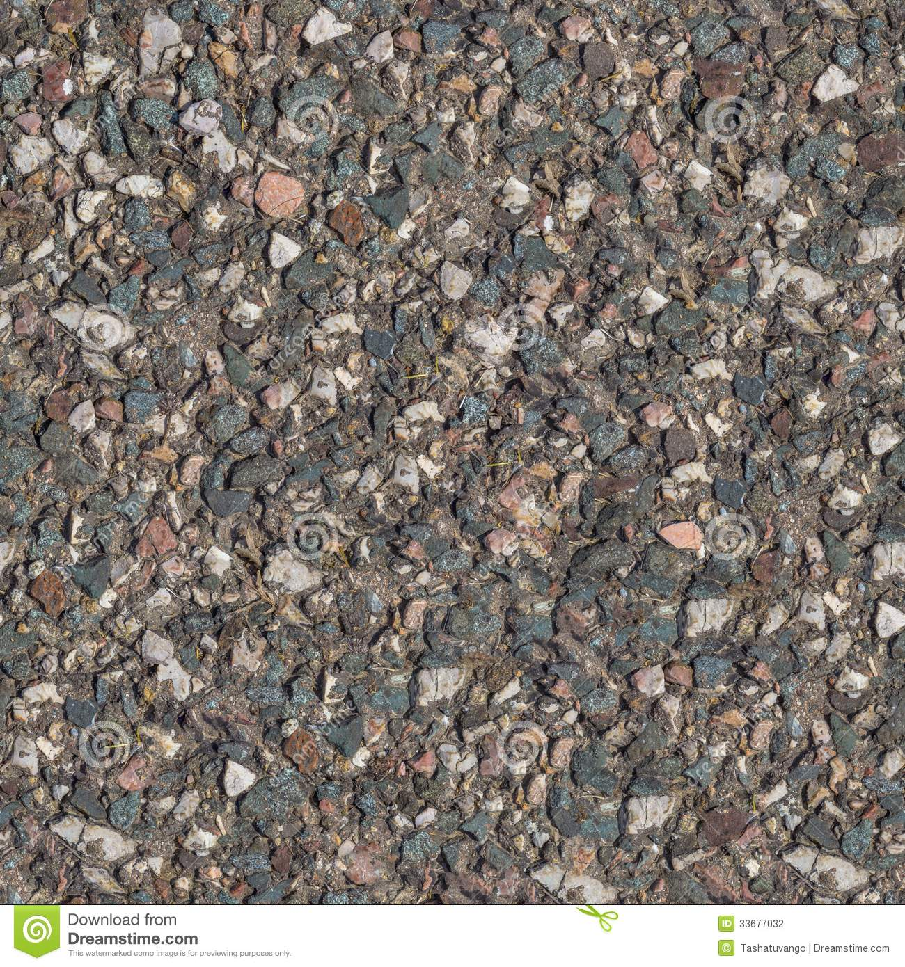 Seamless Tileable Texture of Fragment of Old Stone Country Road  Small    Seamless Stone Road Texture