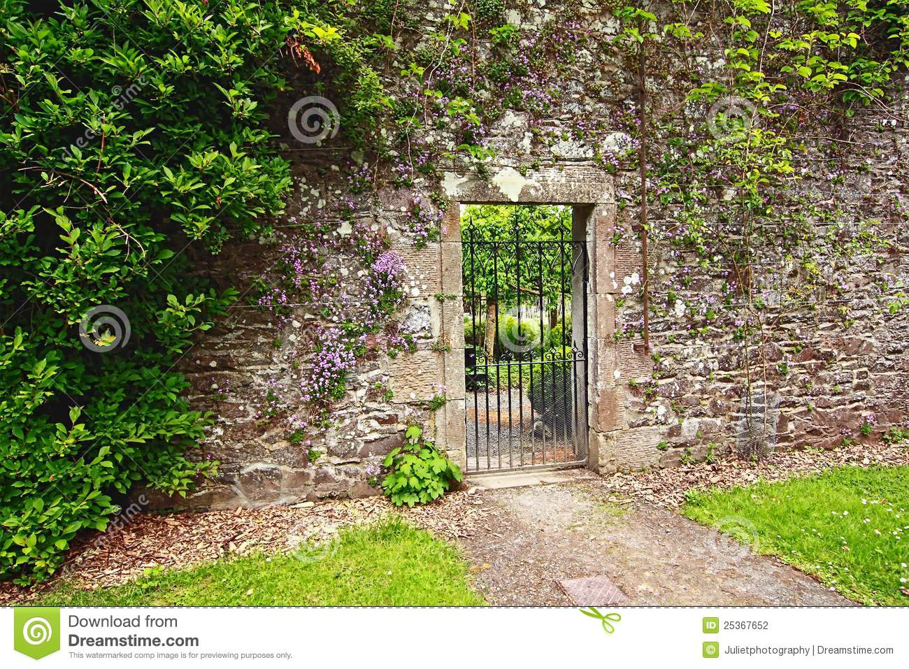 download old stone garden wall stock photo image of fence aged 25367652 - Garden Wall