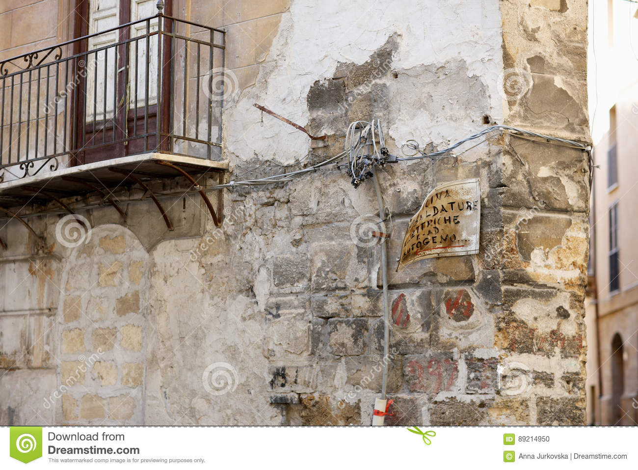 Old Stone House Stock Photo Image Of Ancient City Building 89214950 Wiring In