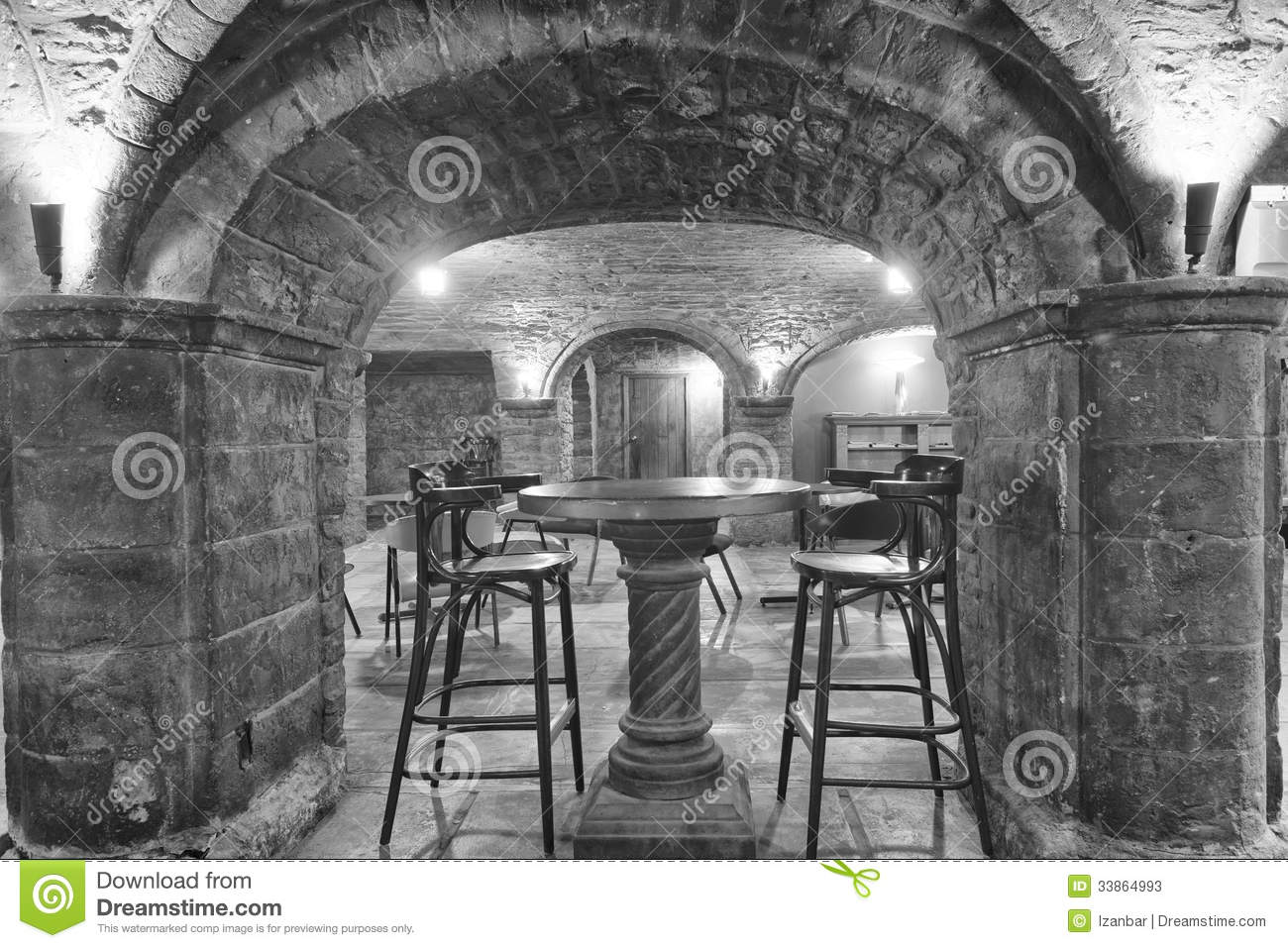 Old stone house interior stock photos image 33864993 for Stone house interior