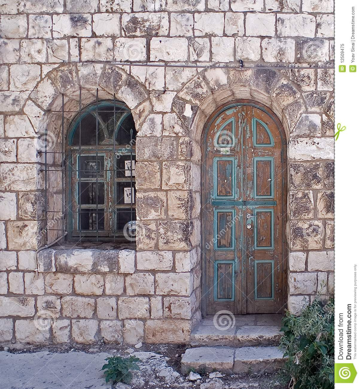 Old Stone House Rosh Pina Israel Royalty Free Stock Photo