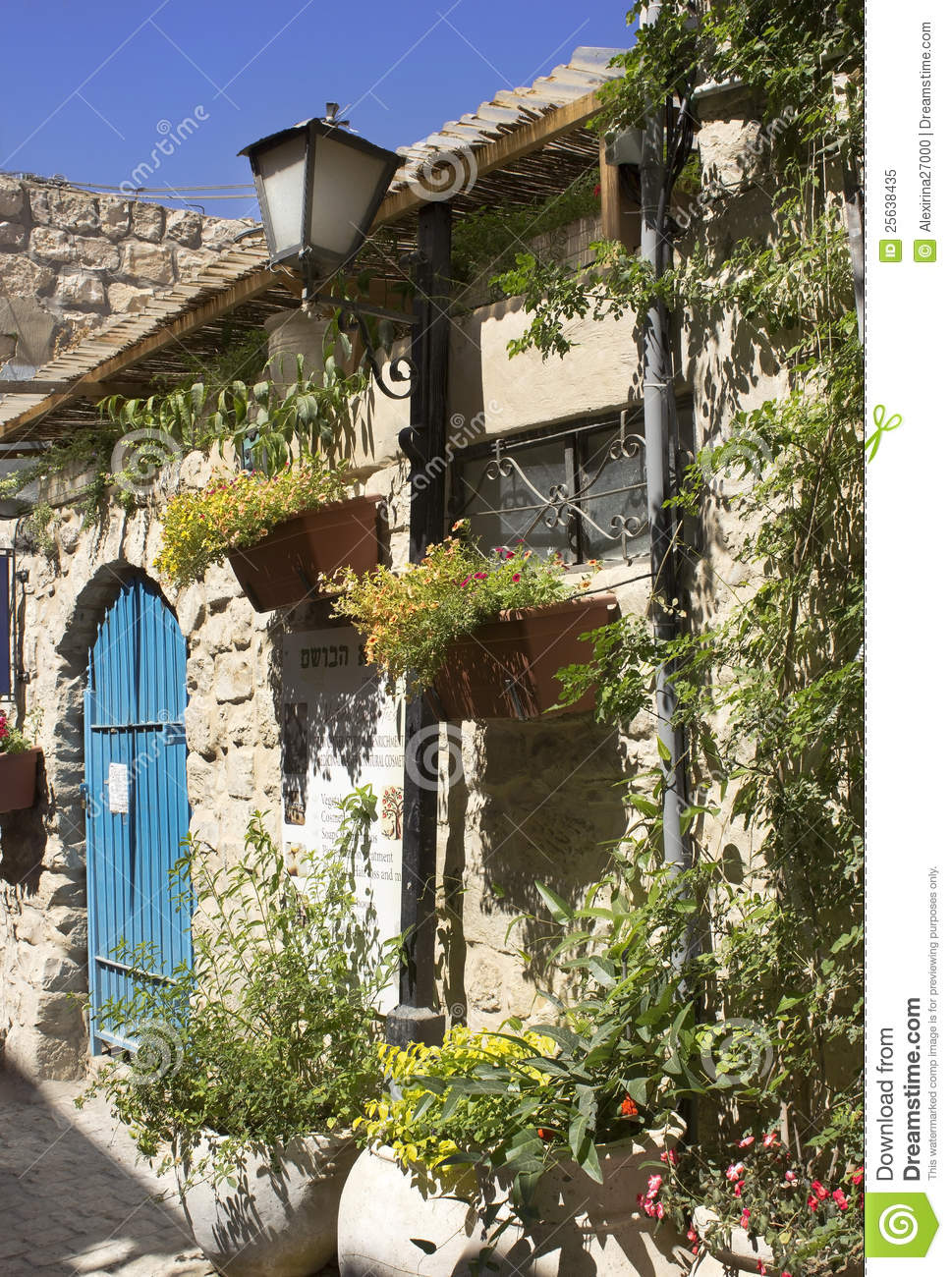 Old stone house in Safed