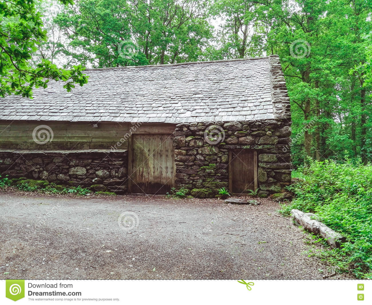 Old Stone House In The Woods Royalty Free Stock Images