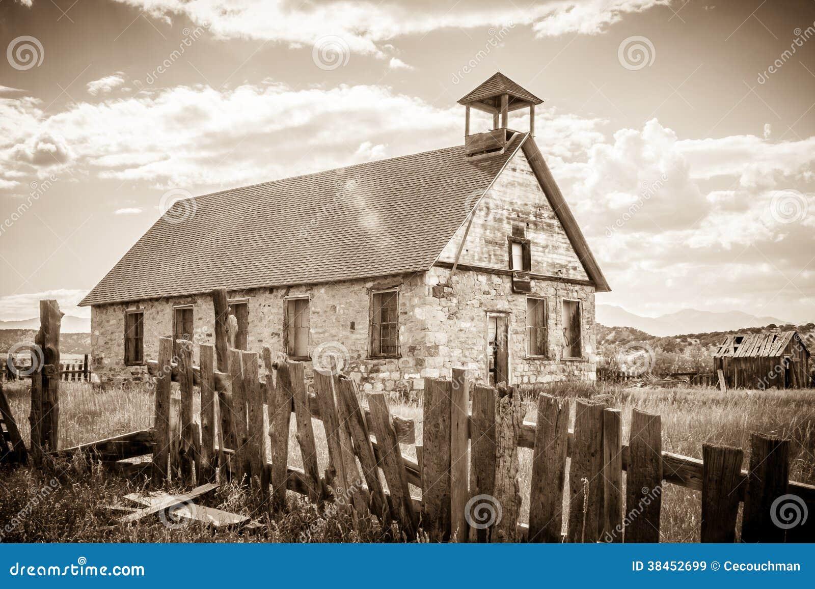 Old Stone School In Malachite Colorado Royalty Free Stock