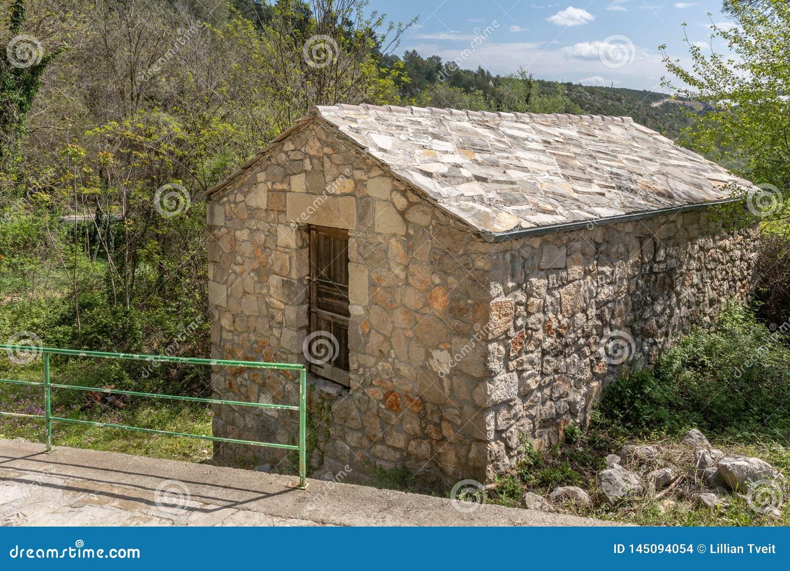 Stone Shed With Stone Roof In Kravice, Bosnia-Herzegovina Stock Photo - Image of farm, herzegovina: 145094054