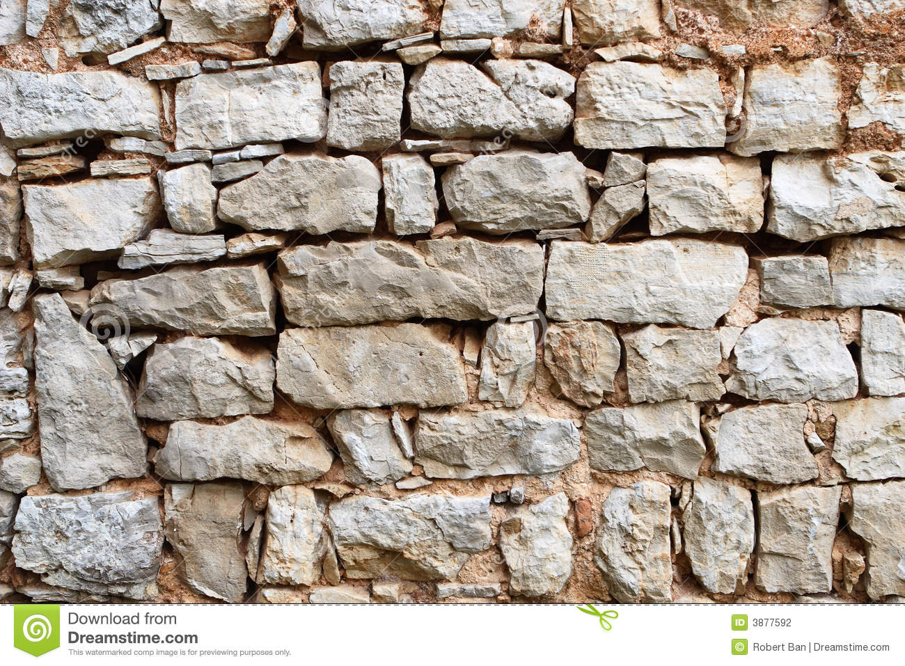 Old Stone Wall Stock Photography Image 3877592