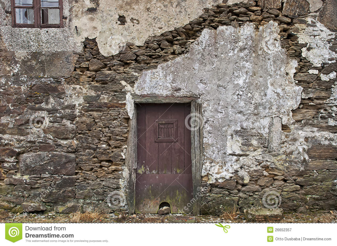 Old stone wall with door stock image image of made gate for Door of stone