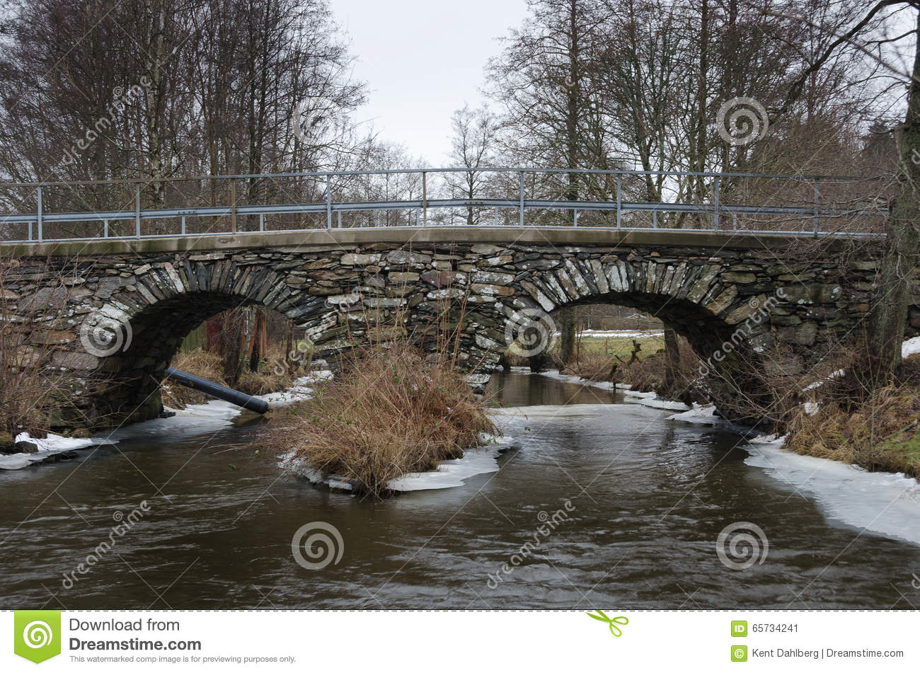 Old stonebridge over the cold water