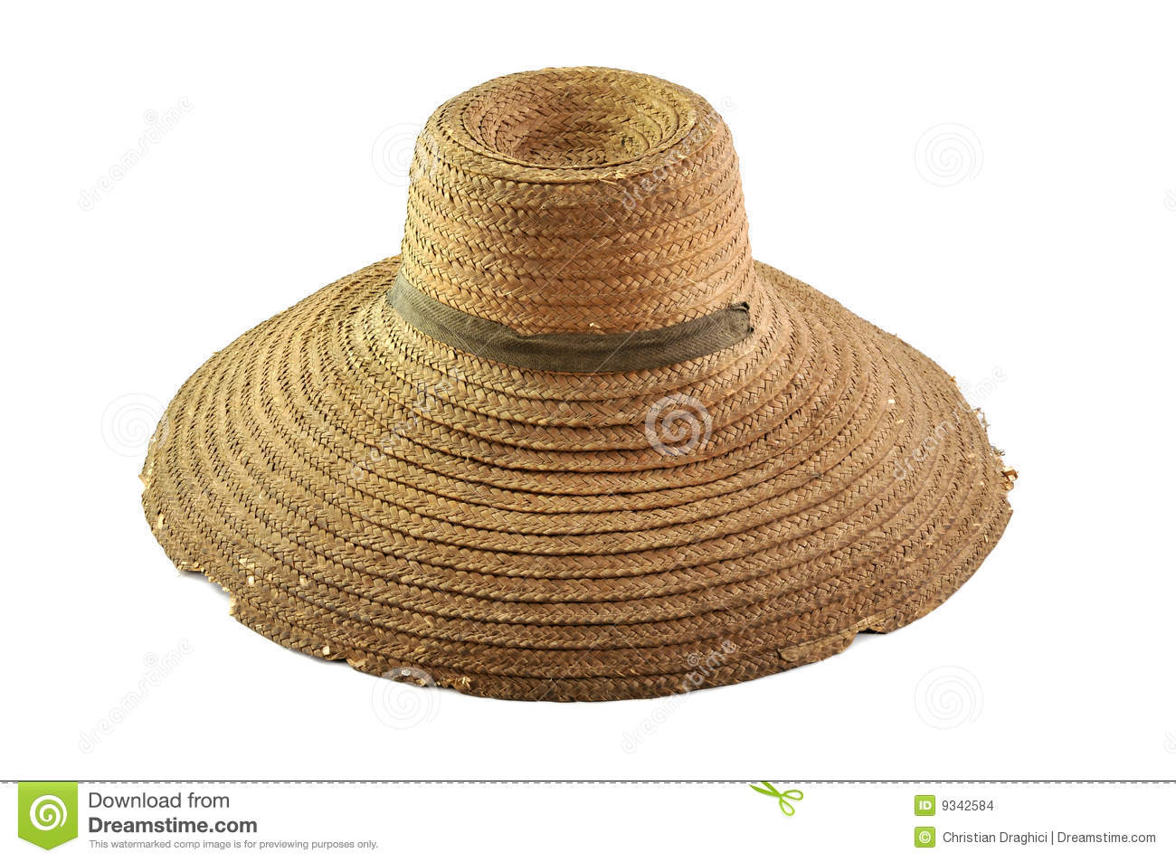 old straw hat stock images image 9342584