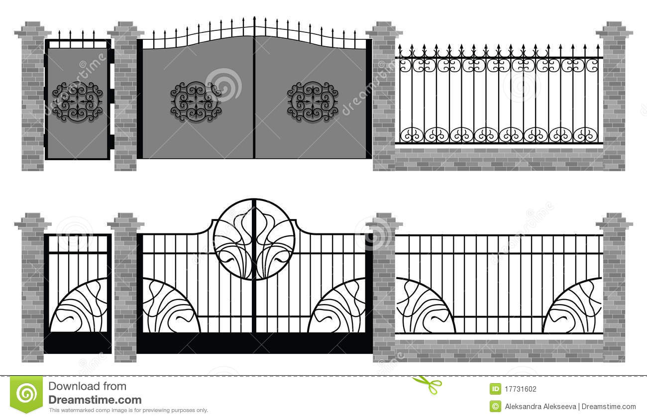 Old street fences and gates stock photography image - Cercas de hierro ...