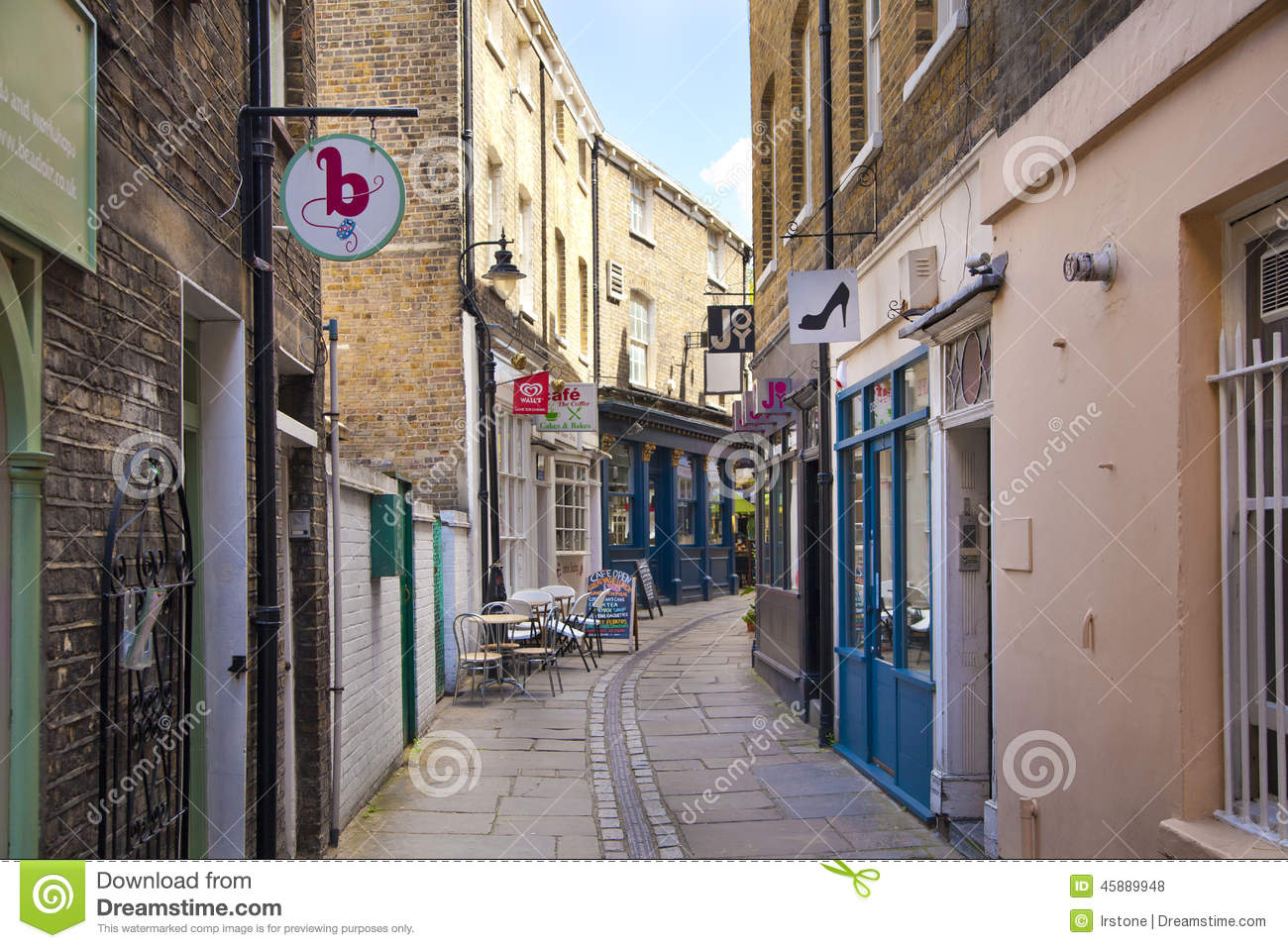 Old Street Greenwich Old Town Houses And Shops View