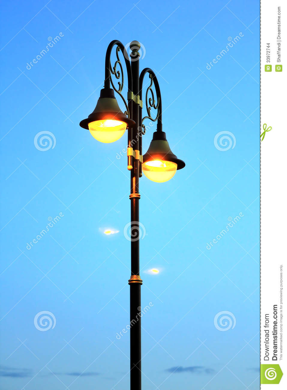 Old Street Lamp Pole Stock Images Image 33972744