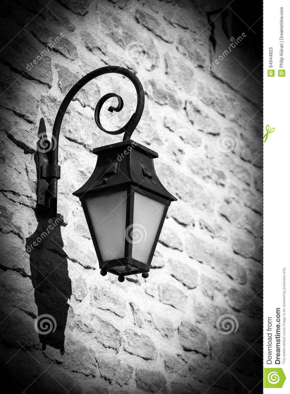 old street light in black and white stock photo image 64944823. Black Bedroom Furniture Sets. Home Design Ideas