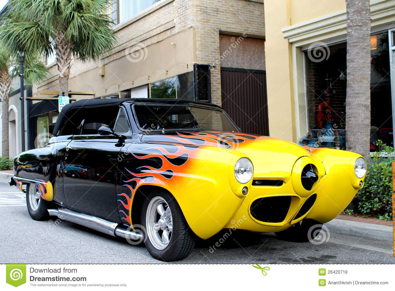 The Old Studebaker Car Stock Photo. Image Of Show, Built