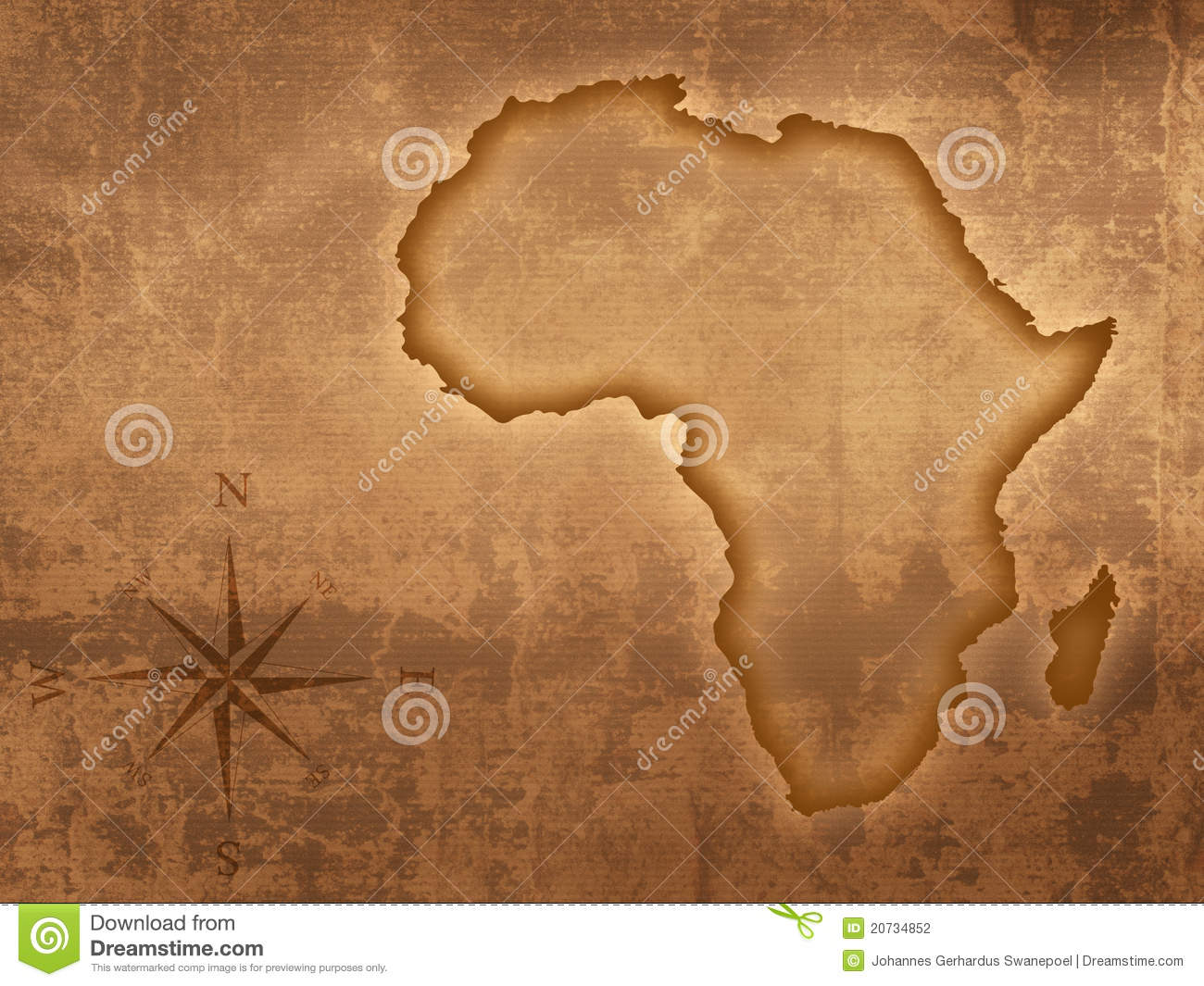 old style africa map