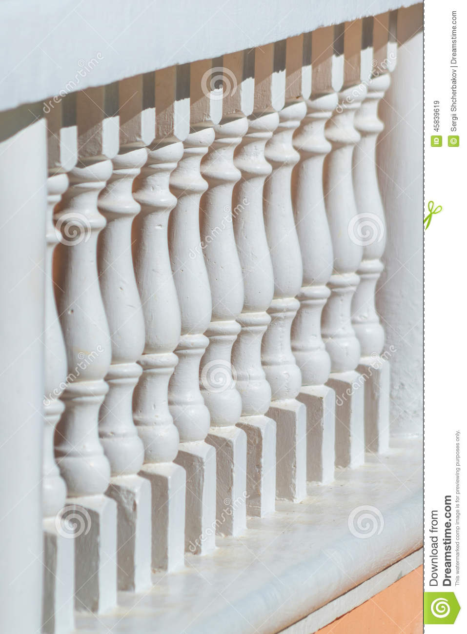 Old style balustrade balcony fence stock image image for What is a balcony