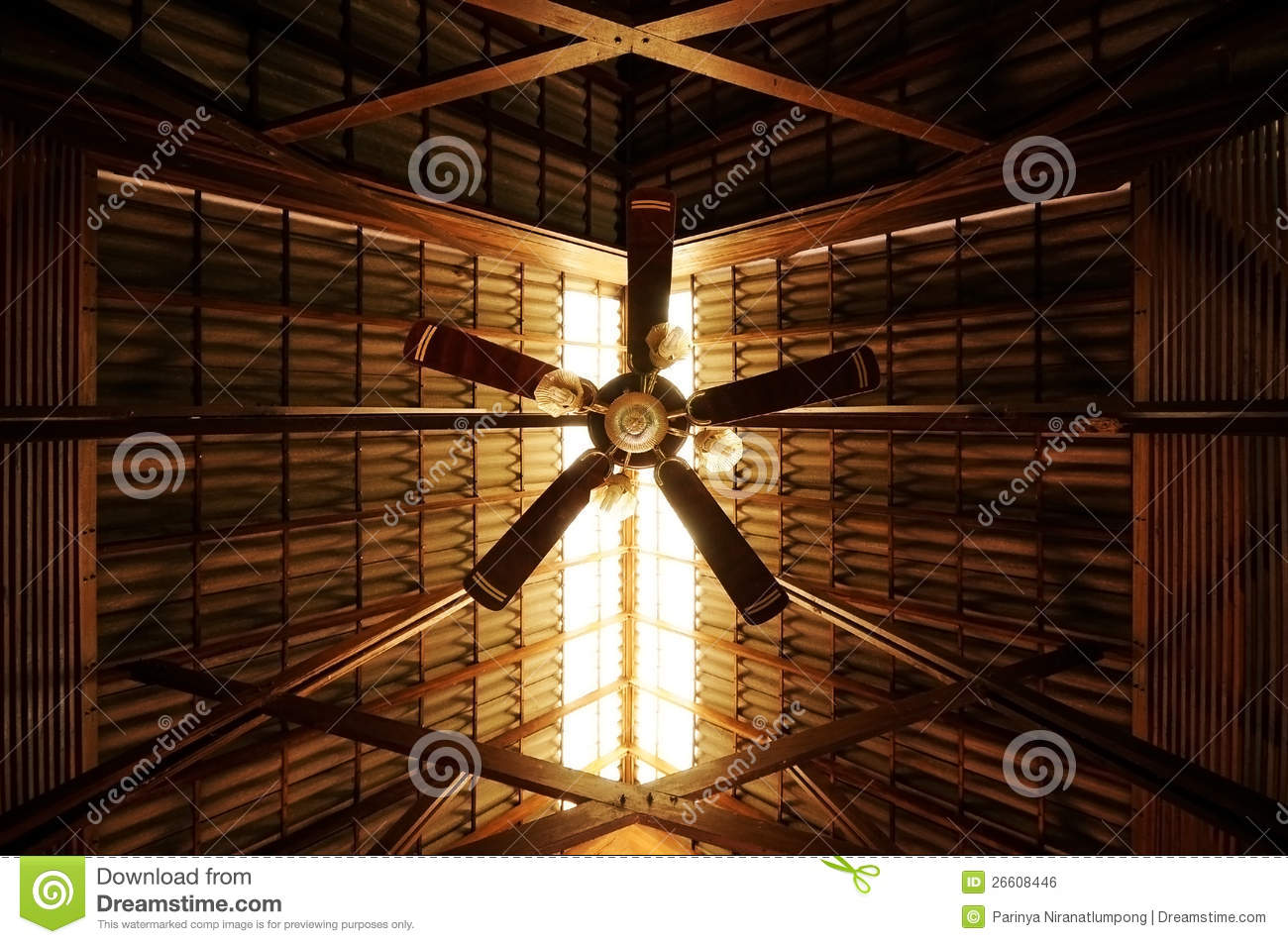Old Style Ceiling Fan Stock Photo Image Of Design Equipment 26608446