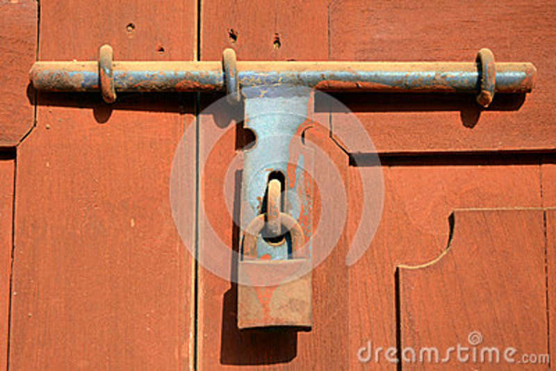 The old style of door lock stock image image of design - Old fashioned interior door locks ...