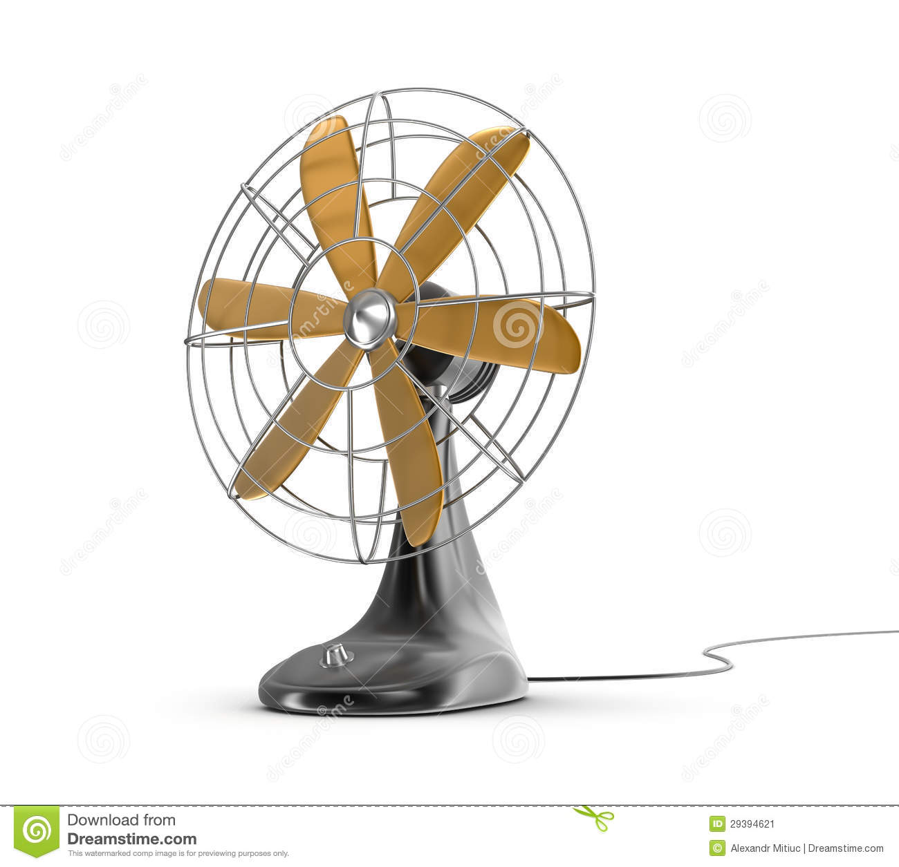 Electric Fan Cartoon : Old style electricity switch royalty free stock image