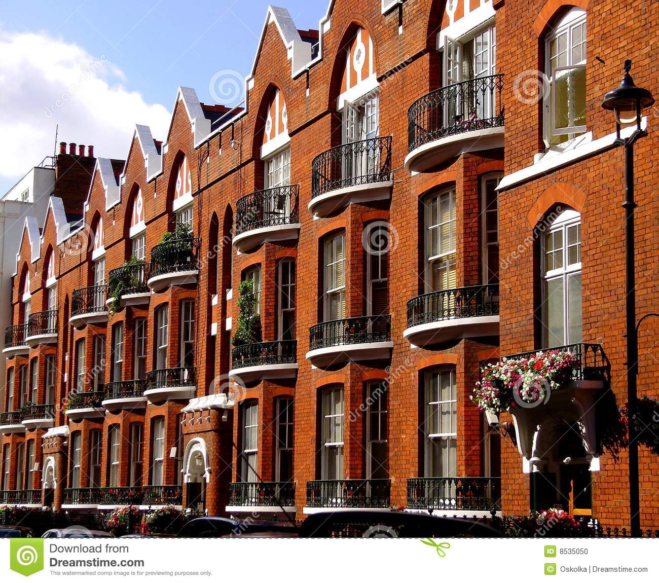 Define Apartments: Old Style English Apartments Stock Photo