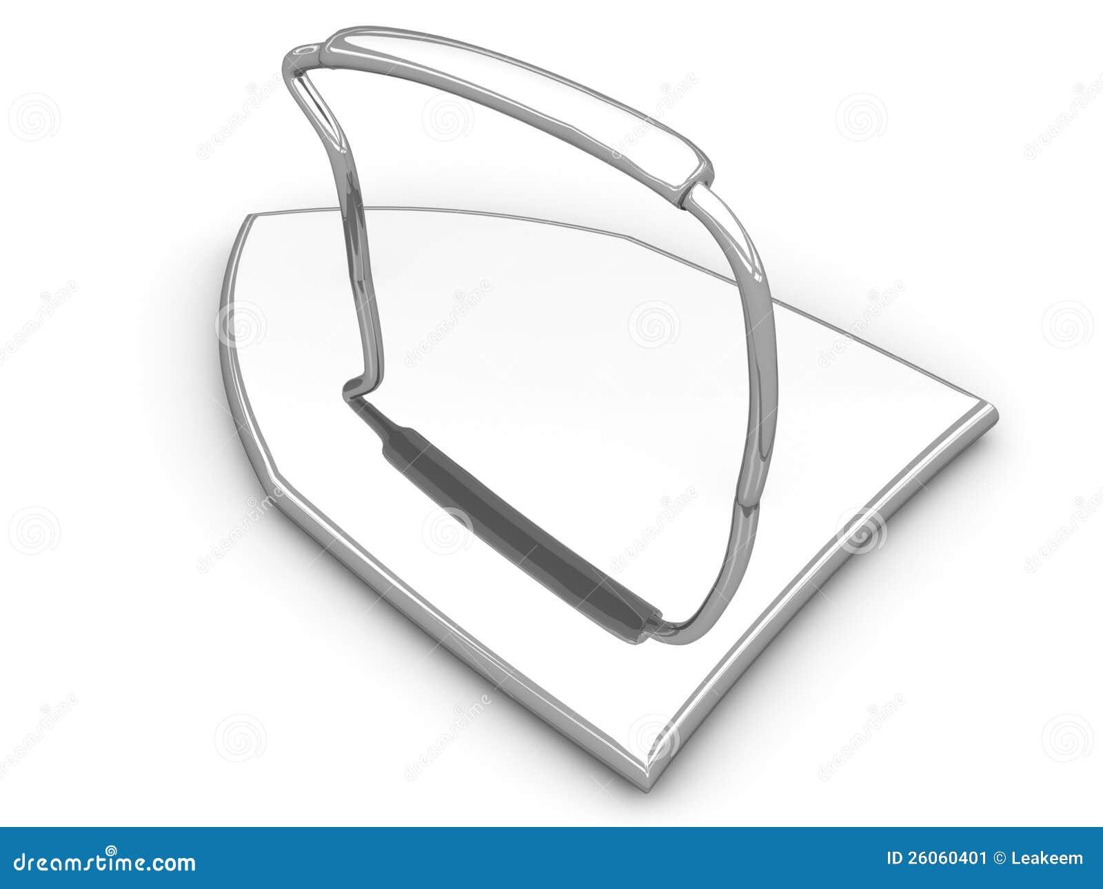 Old Style Flat Iron Stock Image - Image: 26060401