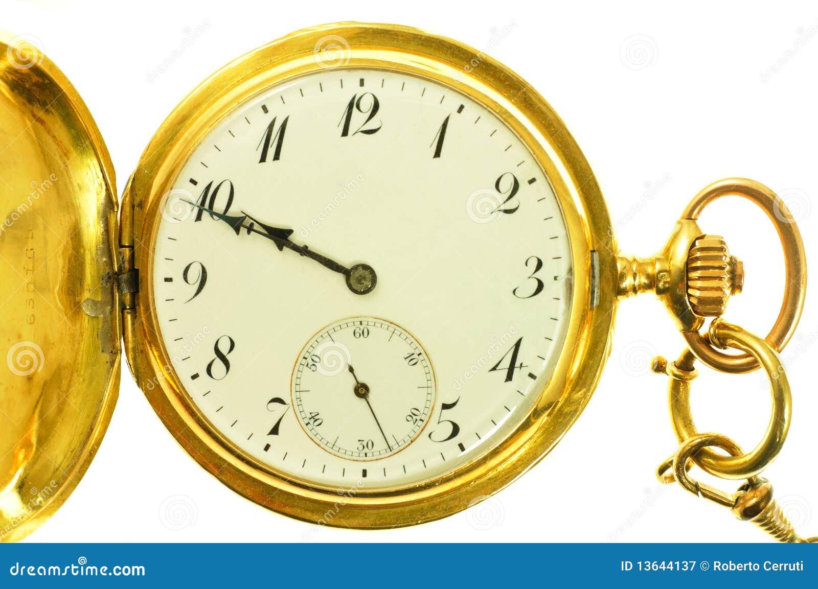 Old style gold pocket watch stock image image 13644137 - Relojes grandes de pared vintage ...