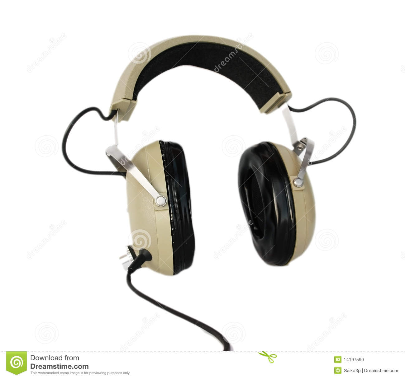 Stock Photo Old Style Headphones Image14197590 on wire connection symbol