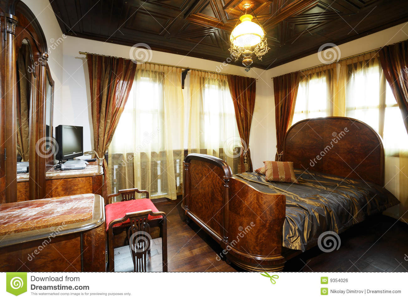 old style hotel bedroom stock photo image of decor