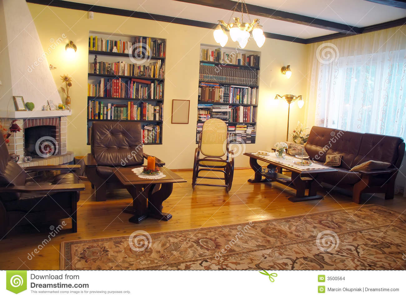 Old Style Living Room Stock Images Image 3500564
