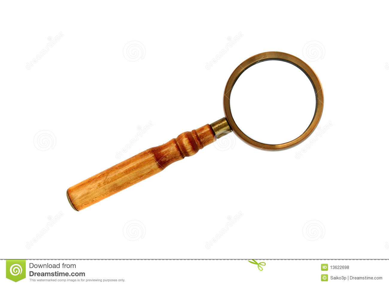 Old Style Magnifying Glass Isolated Royalty Free Stock Photos - Image ...