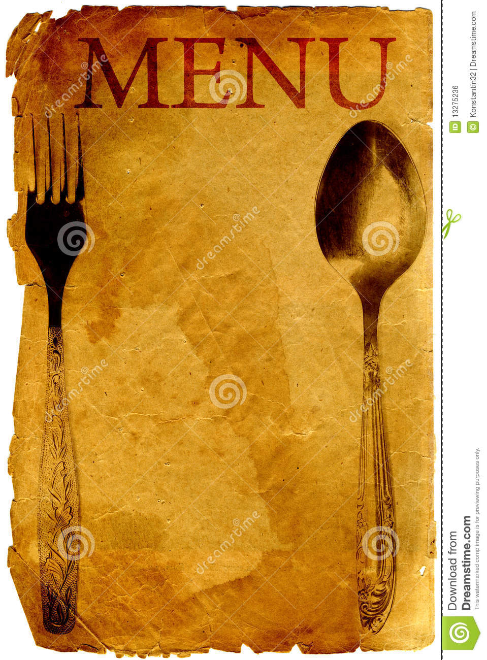 Old Style Menu Stock Illustration Image Of Dining Paper