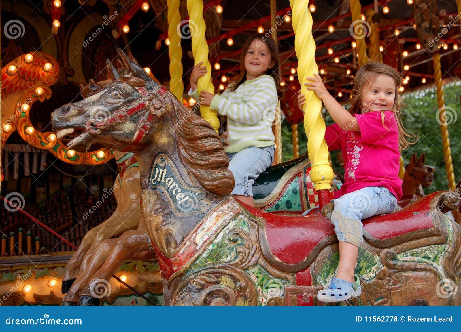 Old style merry-go-round